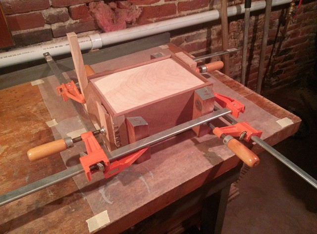 The glue-up...