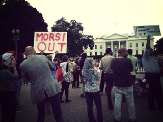 Morsi out at White House