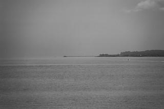 La jetée de Deal vue depuis la Royal Esplanade de Ramsgate (~12km)