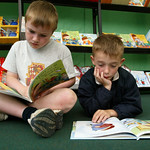 Young readers in the children's bookshop |