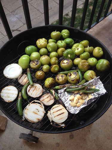 Tomatillo Salsa on the Grill