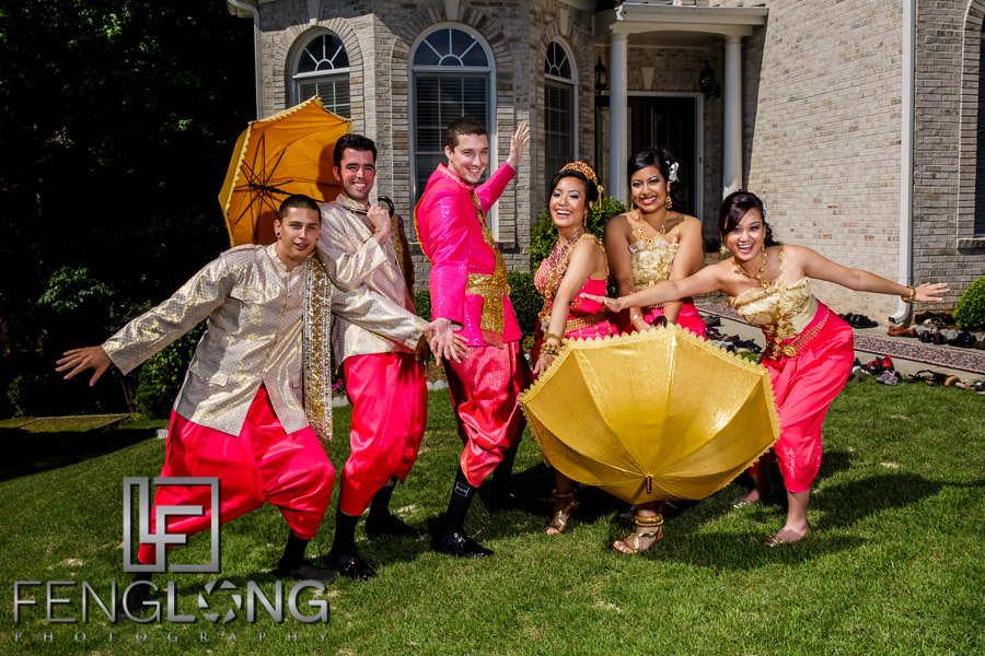 Cambodian wedding party