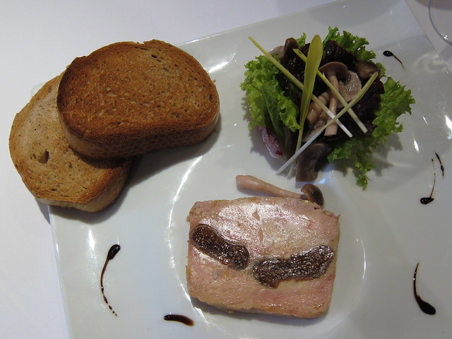 Tivoli Foie Gras Terrine and pickled mushroom salad