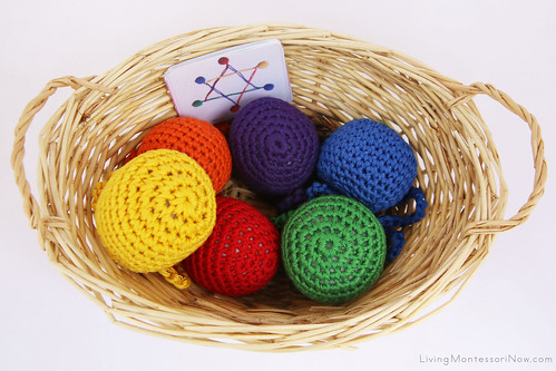 Yarn Balls and Shape Creation Cards Basket