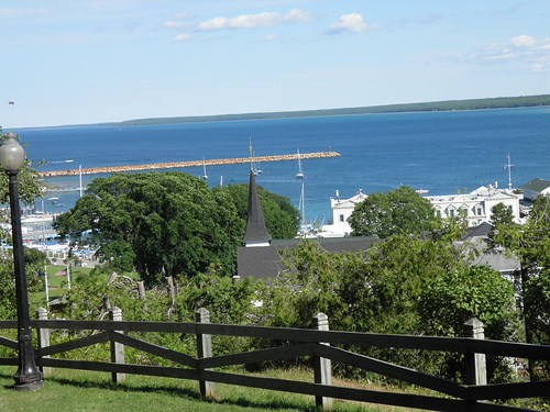 View from Mackinac Island