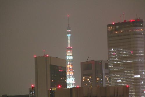 Night Tokyo Tower illumination EOS 70D ISO 3200