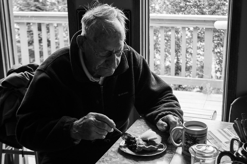 Grandpa + pie = happy