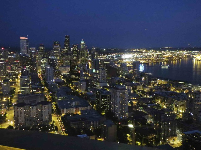 View From The Space Needle Observation Deck Dinner On The Flickr Phot