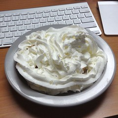pie(0.0), breakfast(0.0), pavlova(0.0), coconut(0.0), buttercream(0.0), cream pie(0.0), baked goods(0.0), produce(0.0), meringue(0.0), whipped cream(1.0), food(1.0), icing(1.0), dish(1.0), dairy product(1.0), cuisine(1.0), cream(1.0), sour cream(1.0),