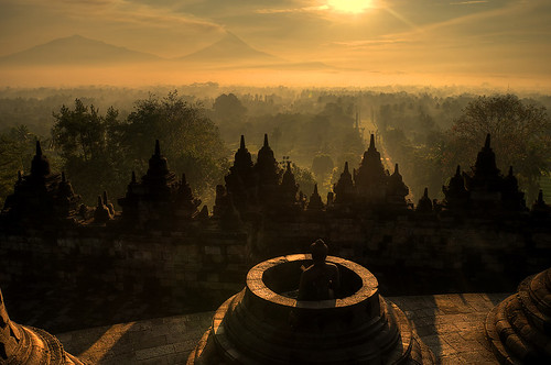 one warm morning at Borobudur