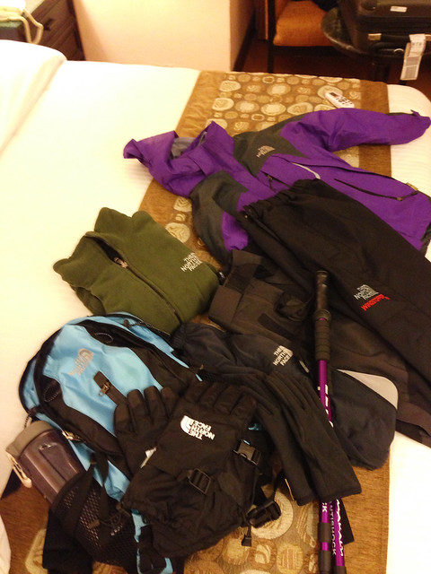 packing for Everest Base Camp
