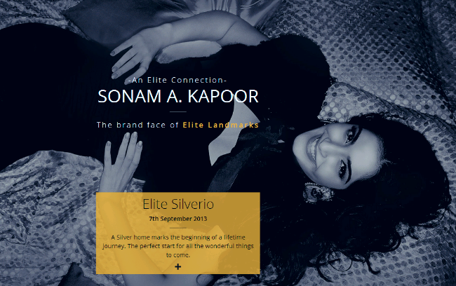 Sonam A. Kapoor The Brand face of Elite Landmarks - Elite Silverio, 2 BHK Flats on Dehu Alandi Road, Chikhali PCMC