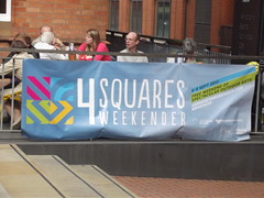 4 Squares Weekender - Oozells Square - banner on Ikon Gallery