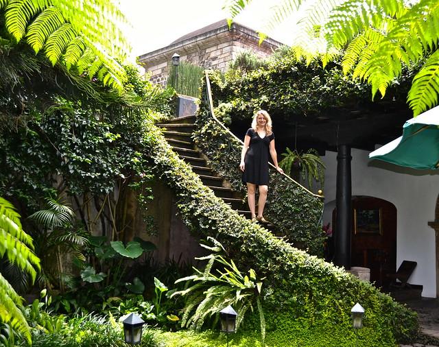 Panza Verde Staircase and Courtyard - Antigua, Guatemala