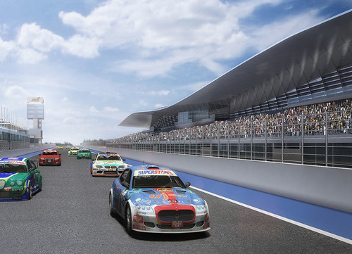 Recta meta con boxes Jarama RACE proyecto