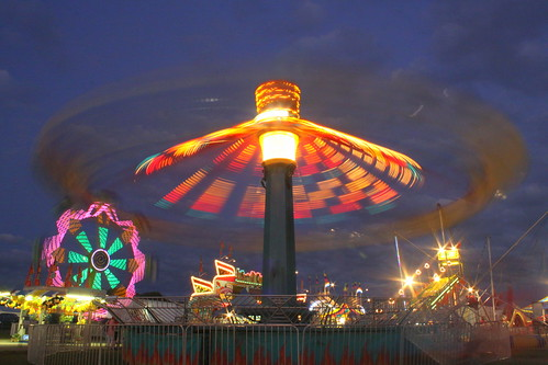 2013 Coffee County Fair: Downdraft Blurred Motion at Night