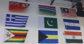 International Flags at Bates Squash Court
