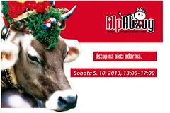Alpabzug 2013: švýcarské svádění krav v Praze