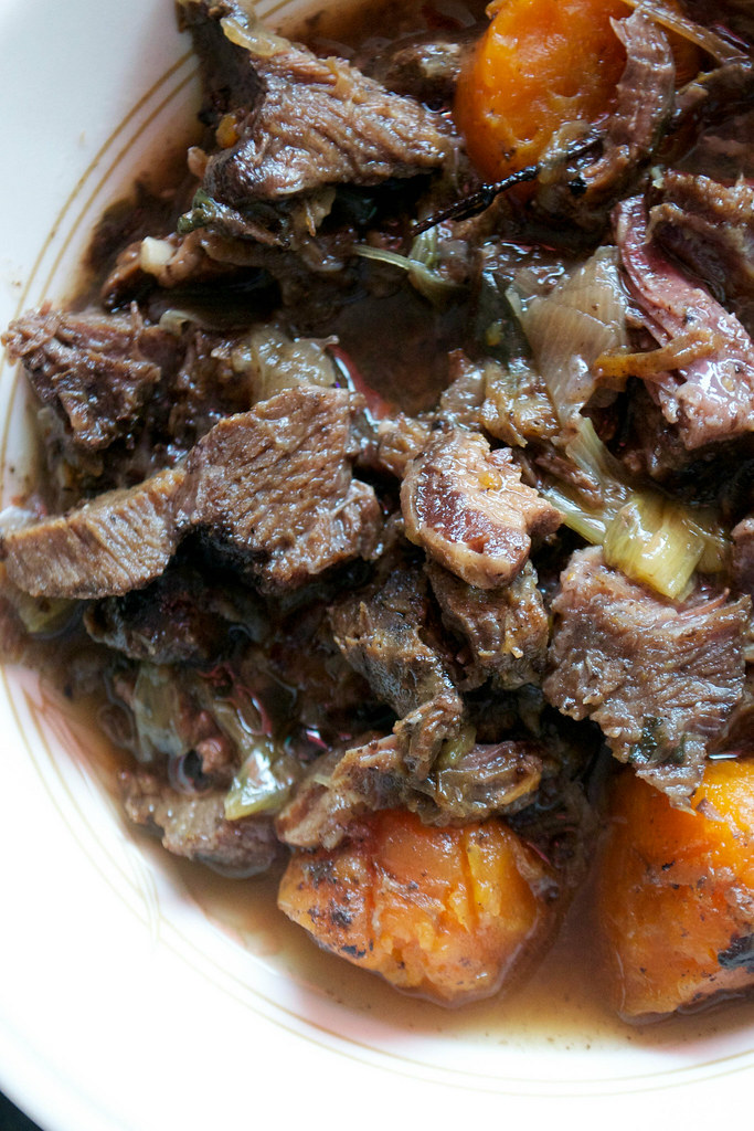 oxtail and bacon stew