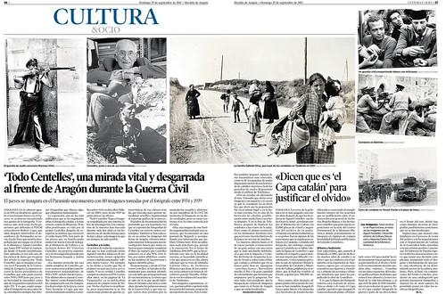 Todo Centelles, doble página en «Heraldo de Aragón», una mirada vital y desgarrada... by Octavi Centelles