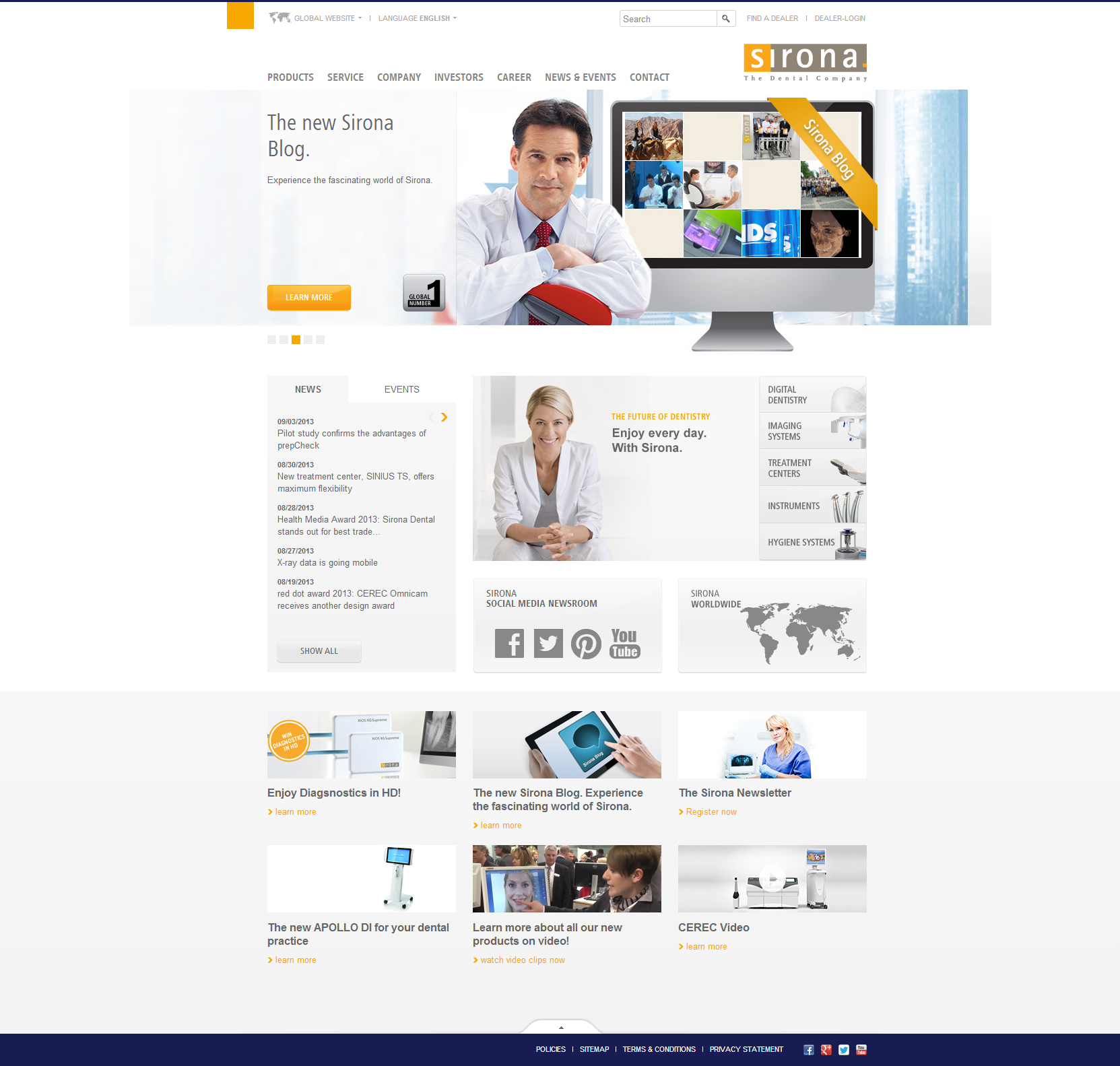 Sirona Dental Beautiful Health Website