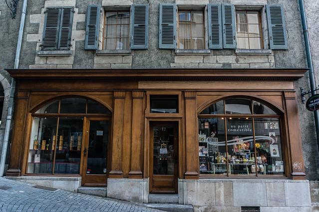 Wooden Facade, Old Town, Geneva