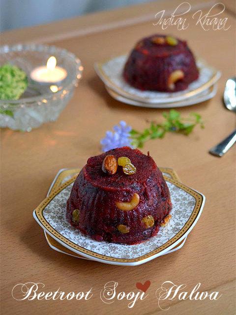 Beetroot Sooji (Rava) Halwa Recipe