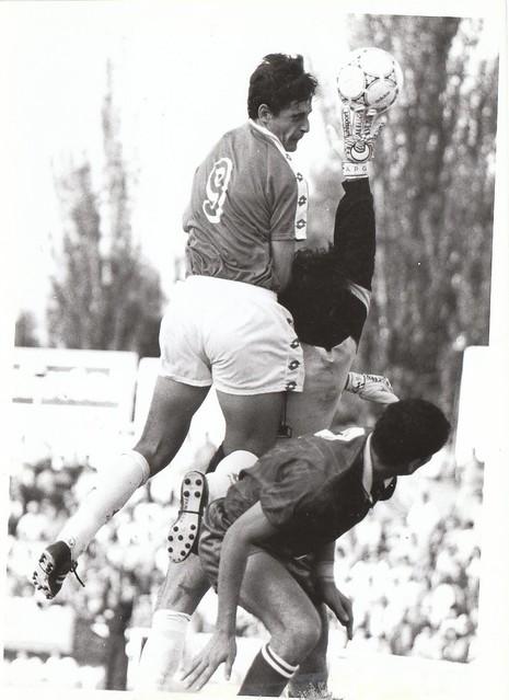 Juan Carlos Paniagua en el partido del ascenso a Segunda División C.D. Toledo-Real Jaén temporada 1992/93 © Fotografía de Carlos Monroy