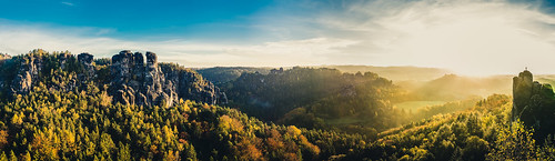 Бастай. Германия. Panorama Sächsische Schweiz