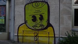 Der Weg ist so tief ohne Licht mit Graffiti 0186