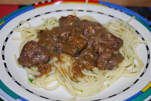 ragout van wildzwijn met pasta