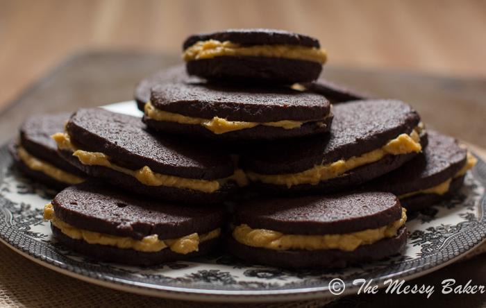 Homemade Oreo Cookies with Pumpkin Buttercream   www.themessybakerblog.com -8870