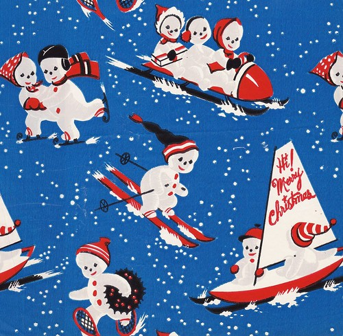 The gallery for --> Vintage Christmas Wrapping Paper 1930s