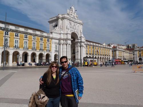 En la Plaza del Comercio (Lisboa)