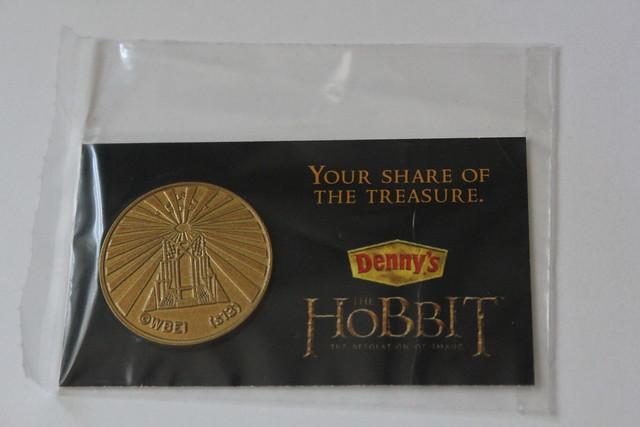 The Hobbit Coins from Denny's