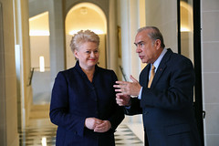 Dalia Grybauskaite, President of Lithuania at the OECD