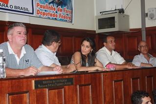 Os membros da Executiva Estadual-SP do Solidariedade Samanta e Paçoca, com os assessores Sandoval, Fábio e Marquinho