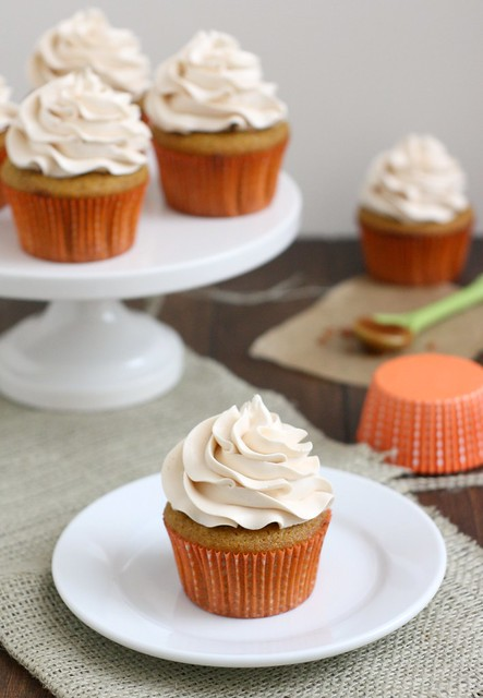 Brown Butter Butternut Squash Cupcakes with Salted Caramel Buttercream