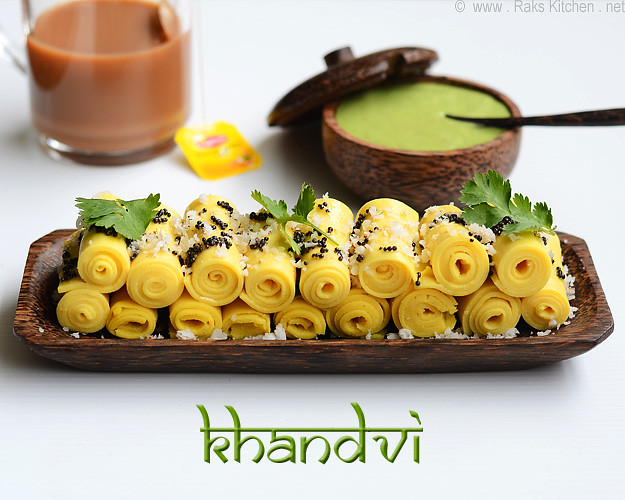 Khandvi recipe how to make khandvi raks kitchen khandvi forumfinder Image collections