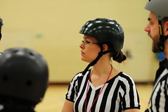 Carly, making her debut appearance as a referee