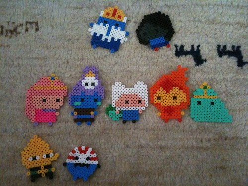 Adventure Time crew - hama beads