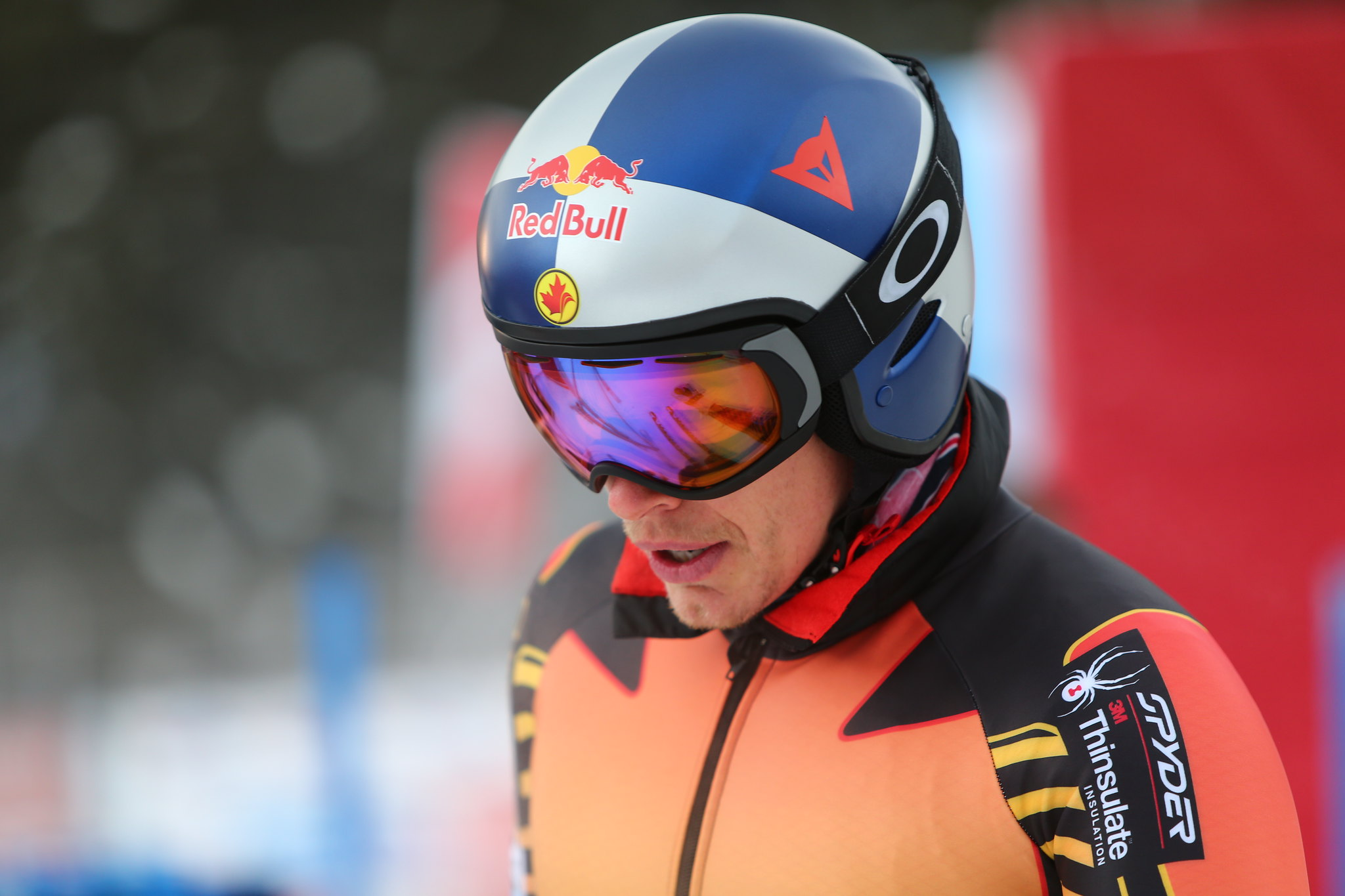 Erik Guay prepares for a free ski in Lake Louise, CAN