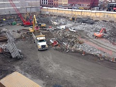 Friday @RideauCentre construction update. They be digging & blasting.