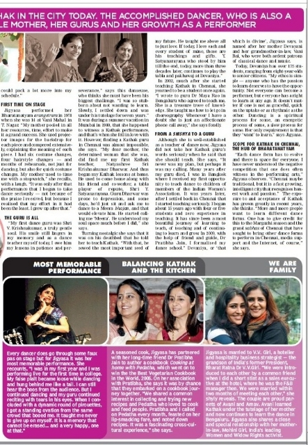 Jigyasa Giri, Dance Interview, Deccan Chronicle