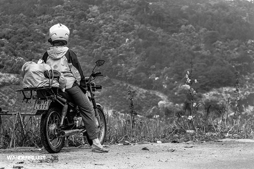 road trip travel bw white black mountains female honda highlands flickr view vietnam adventure motorcycle vista win toms dalat 100cc wanderrlust