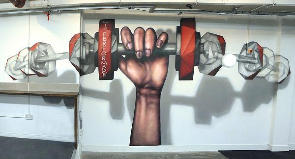 W10 gym wall