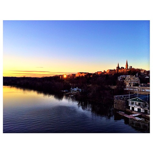 A Georgetown sunset as seen from the Key Bridge