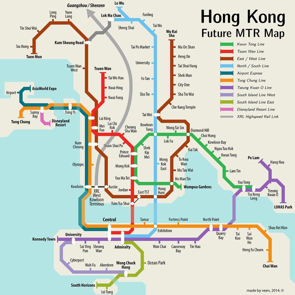 Hongkong Future Mtr Map V2 An Updated Version As Veen Flickr