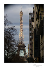 Eiffel Tower from Rue Lecourbe