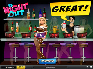 A Night Out Free Spins
